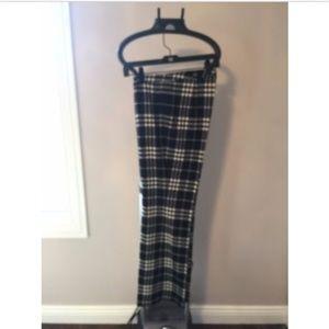 BURBERRY Black & White Plaid Trouser SZ 10